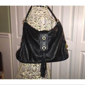 Alfani Original Genuine Black Leather Shoulder Bag